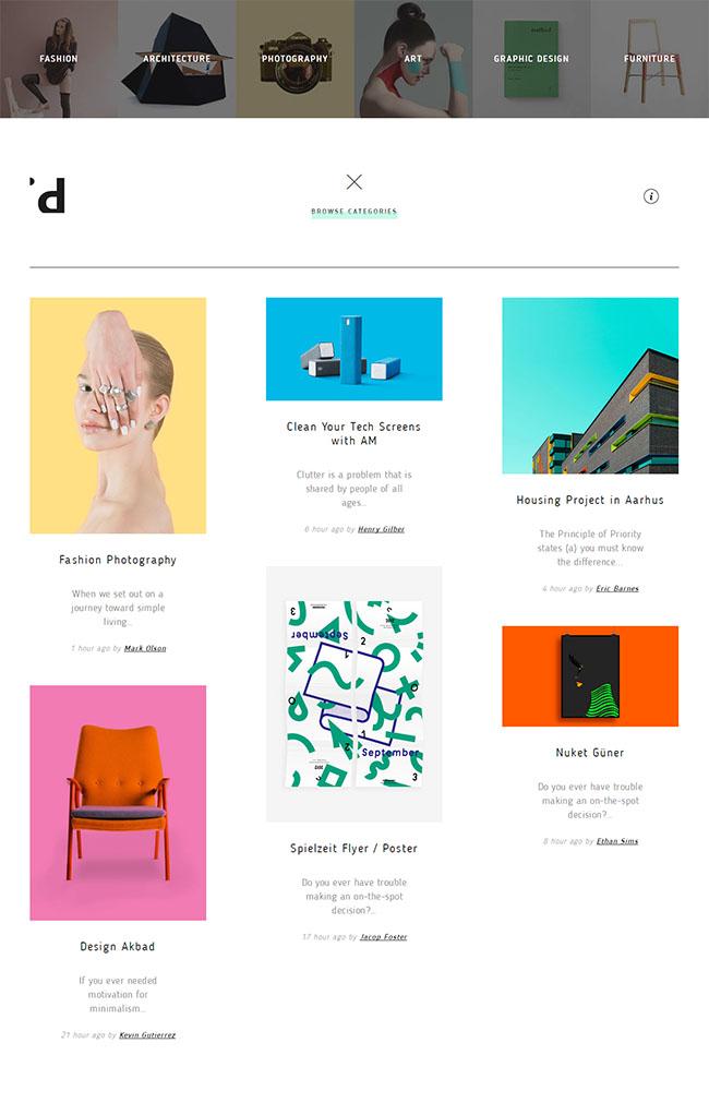 Idea创意设计师网站模板