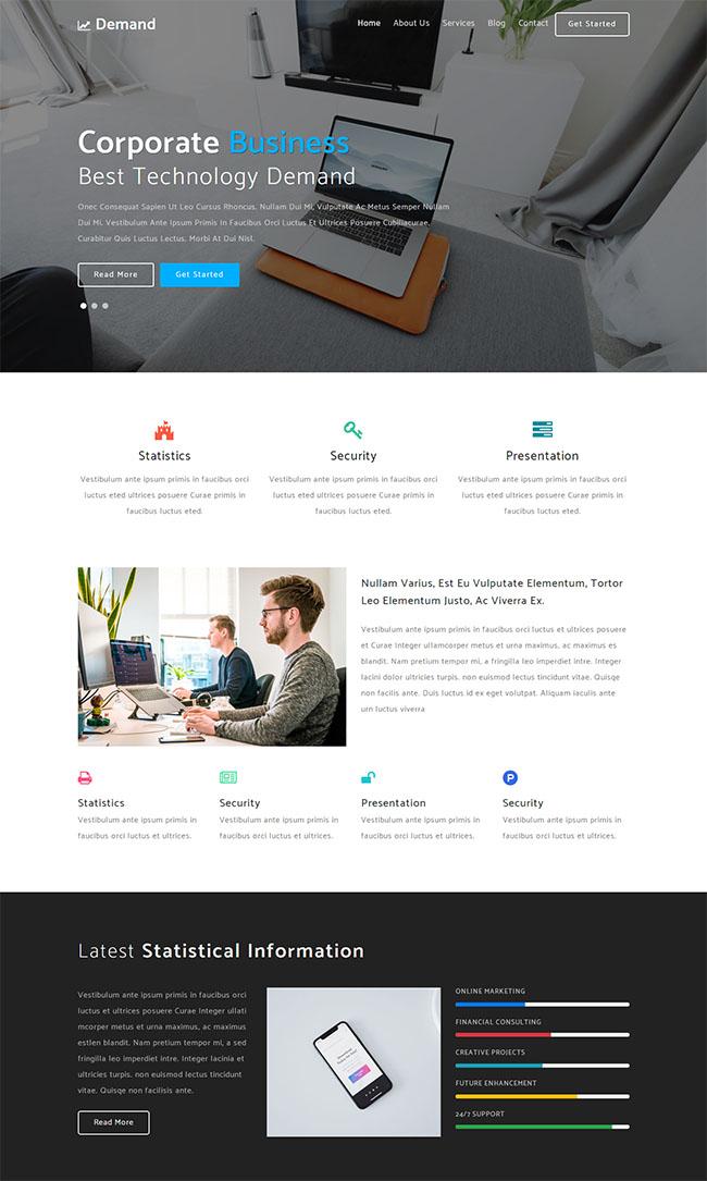 手机应用开发公司网站模板