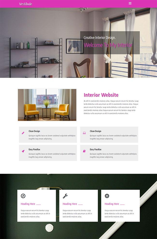 室内设计创意HTML5网站模板