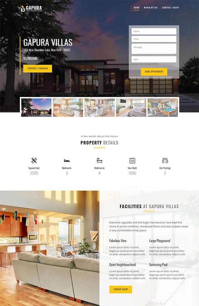 房产中介公司网站HTML5模板
