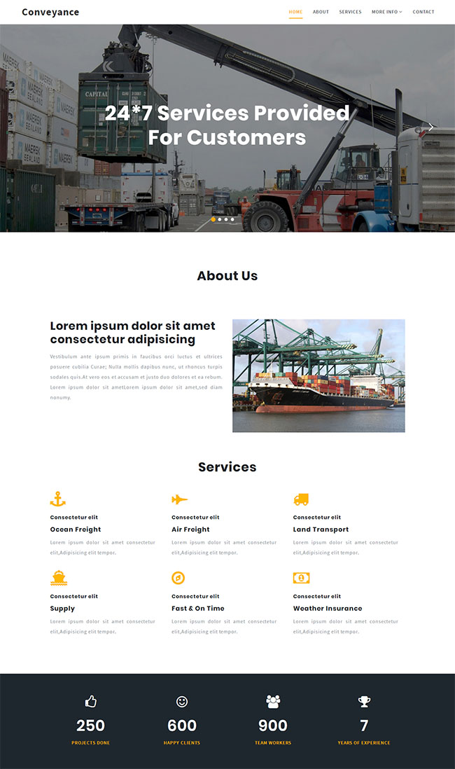 吊车叉车物流公司网站模板