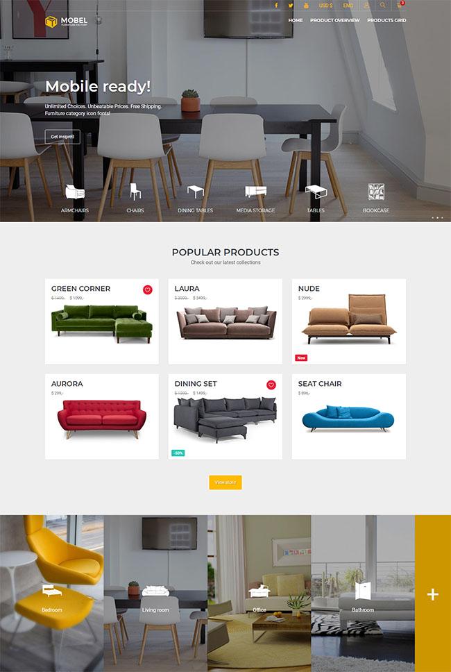 网上家具商城HTML5网站模板