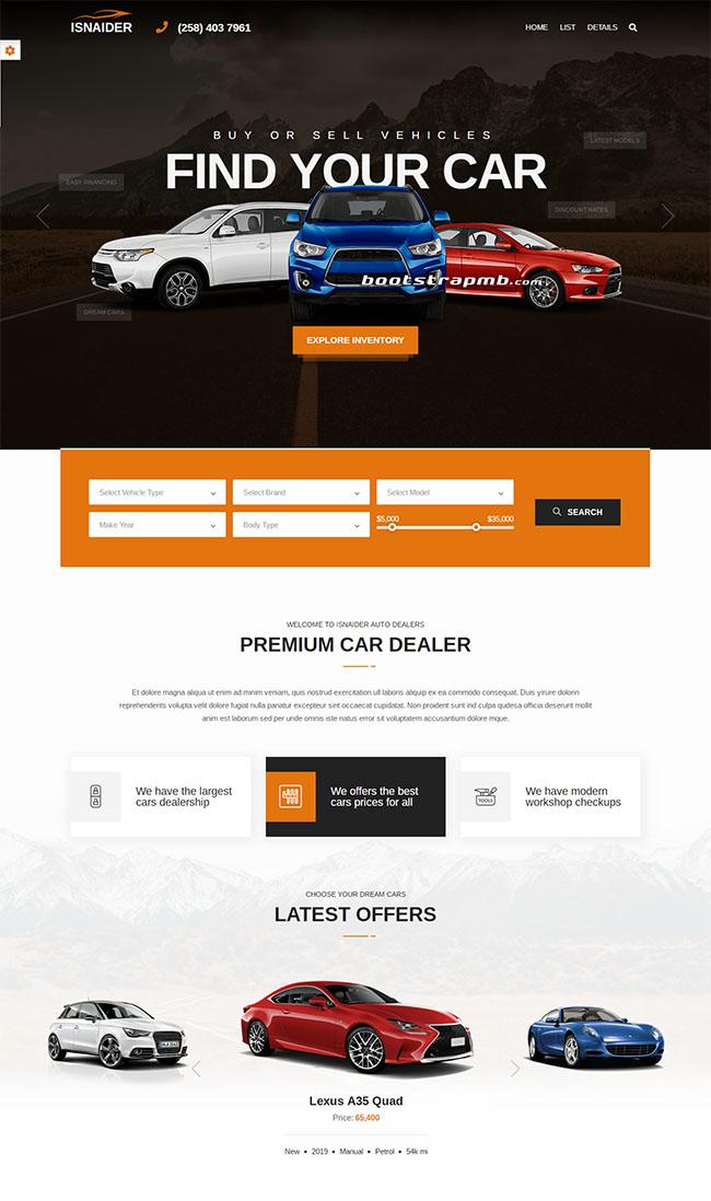 新车销售平台网站模板