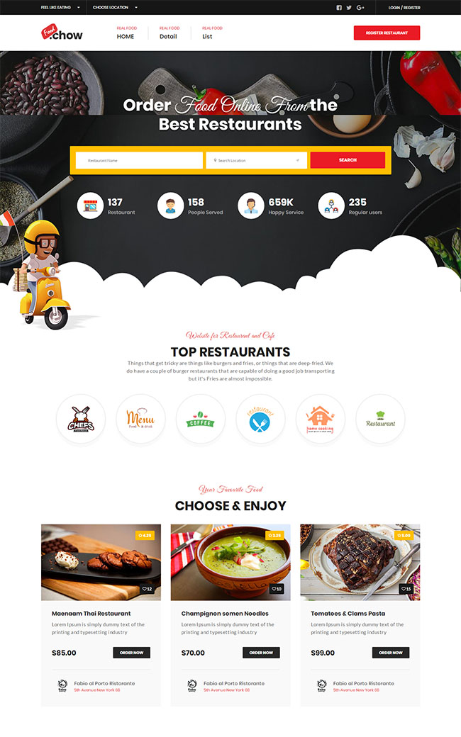 外卖订餐平台网站模板