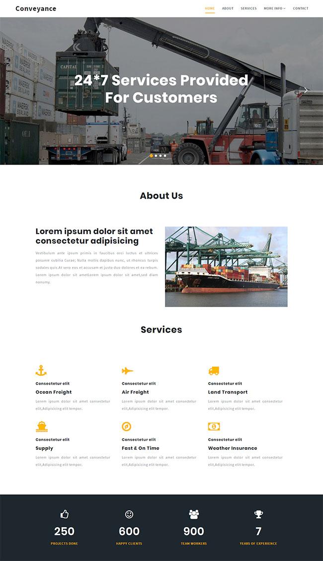 叉车货物搬运公司网站模板