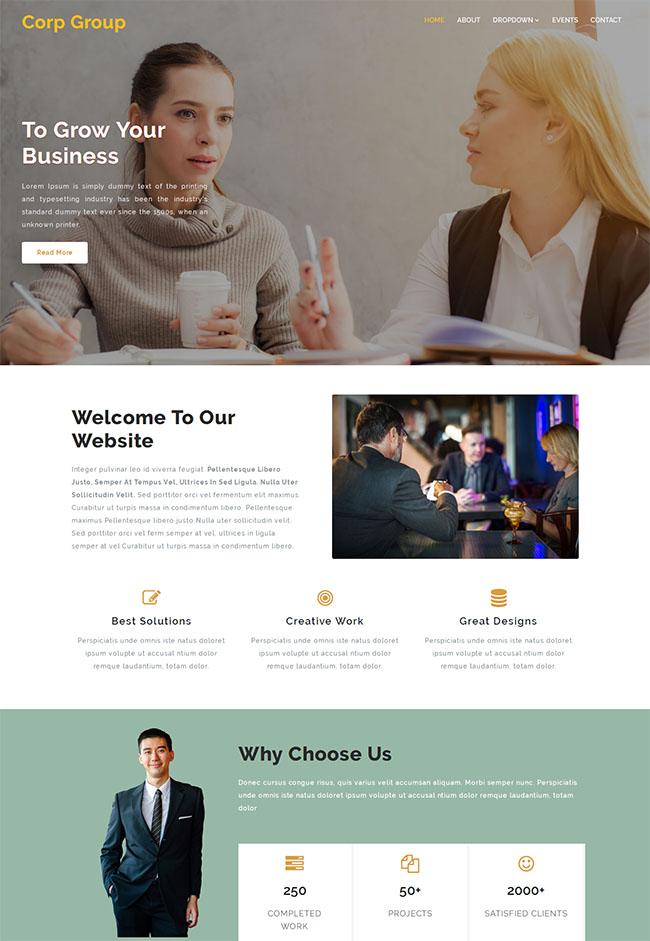 外贸商务合作公司网站模板