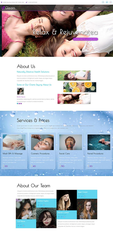 整形美容医院网站模板