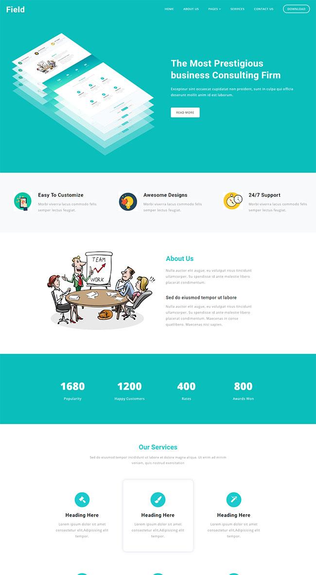 网页设计公司HTML5模板