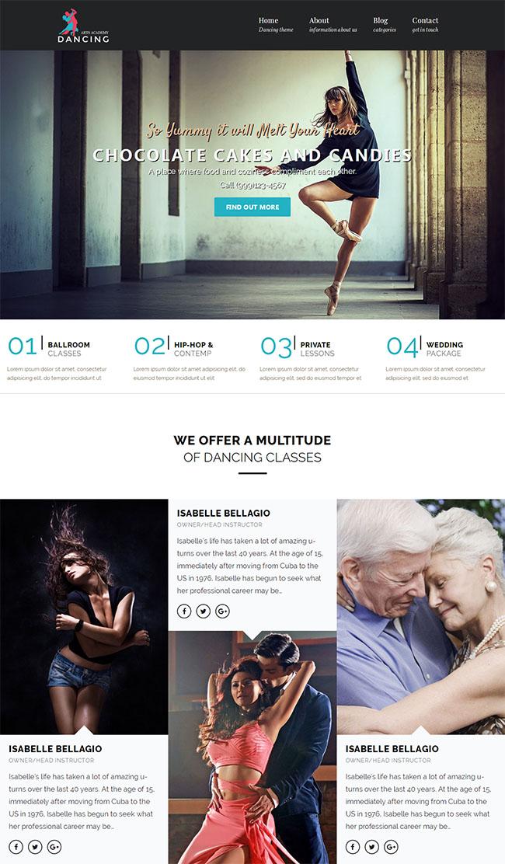 国际舞蹈教学培训班官网模板