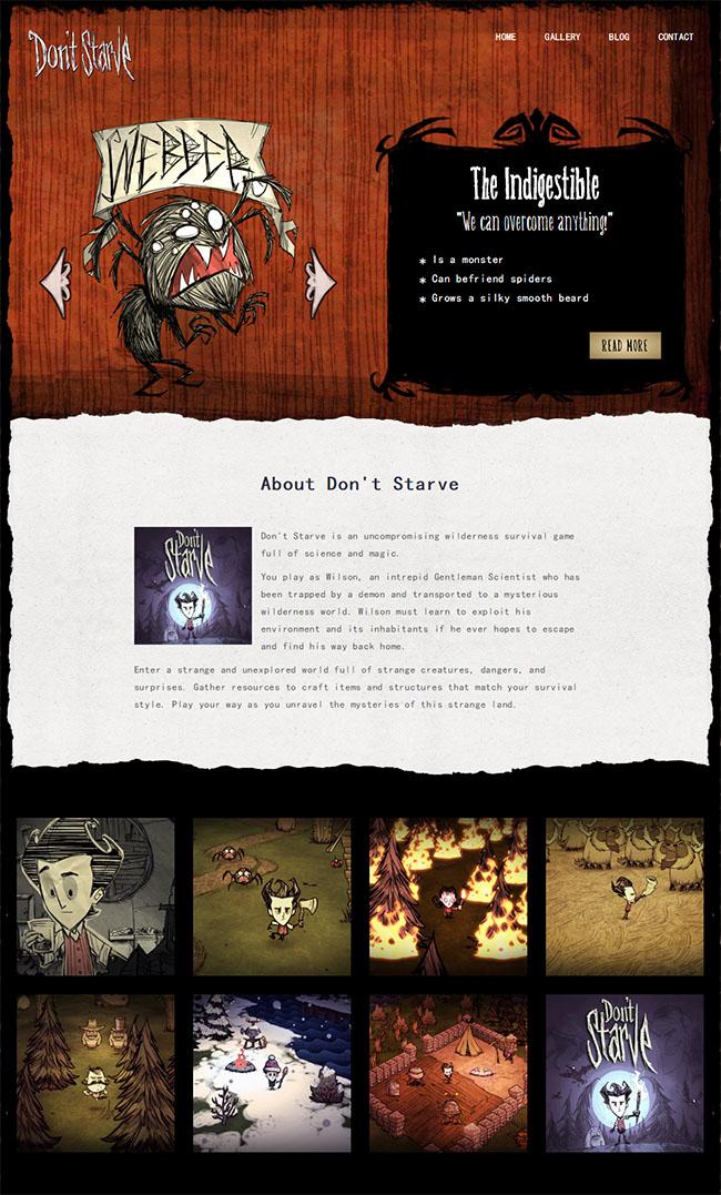 游戏设计师作品展网站模板