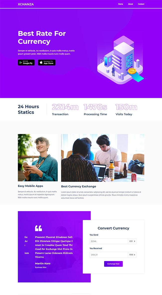 美元交易平台网站模板