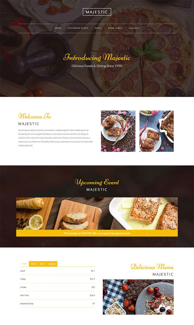 西式甜点面包店餐饮网站模板