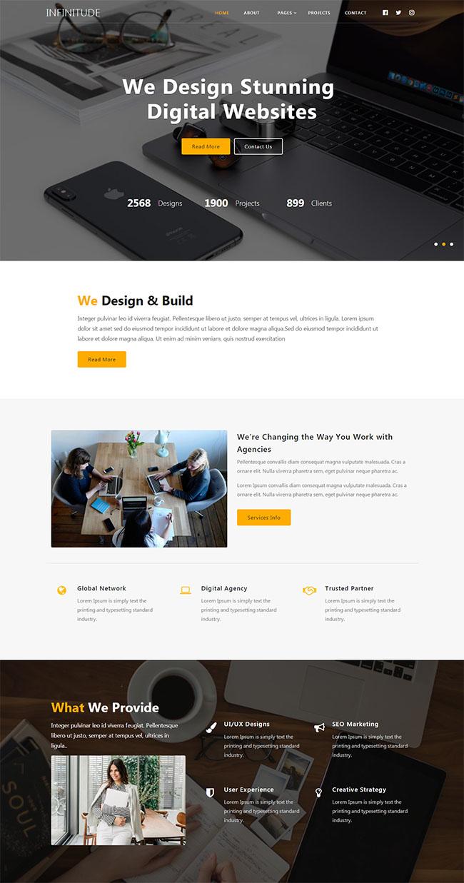 创意产品设计企业网站模板