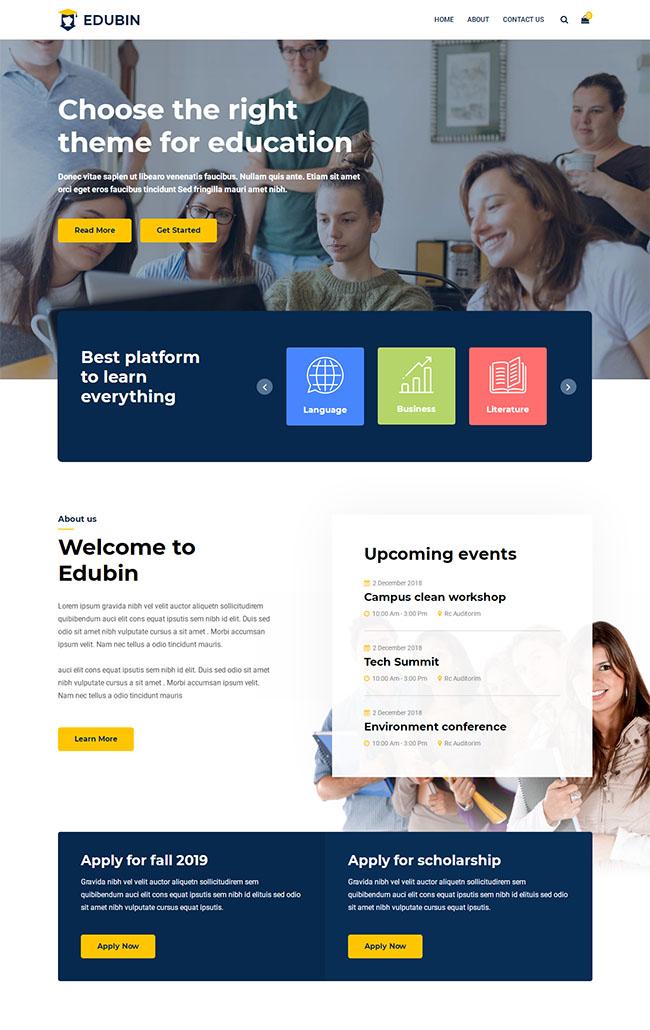 英语课程培训网站html5模板