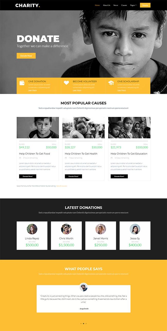 扶贫公益基金会网站模板