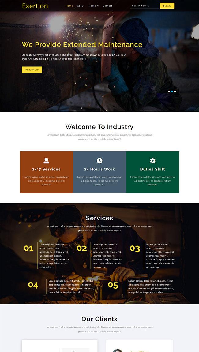 机械制造加工厂网站模板