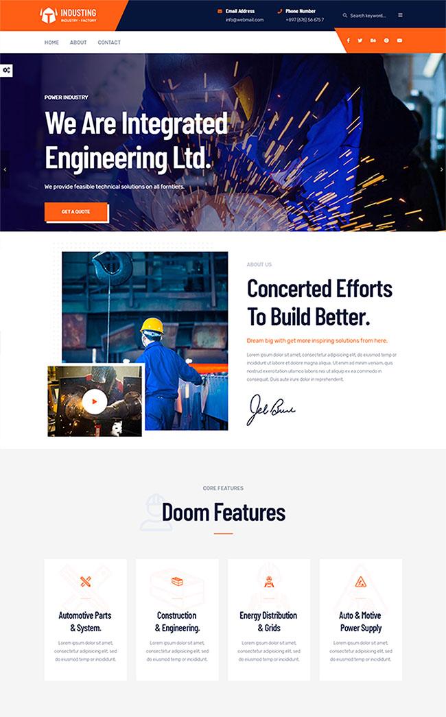 响应式工业生产业务模板