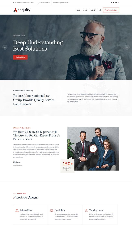 律师法律工作室HTML5模板