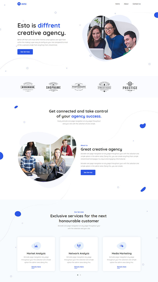 创意小微企业官网网站模板