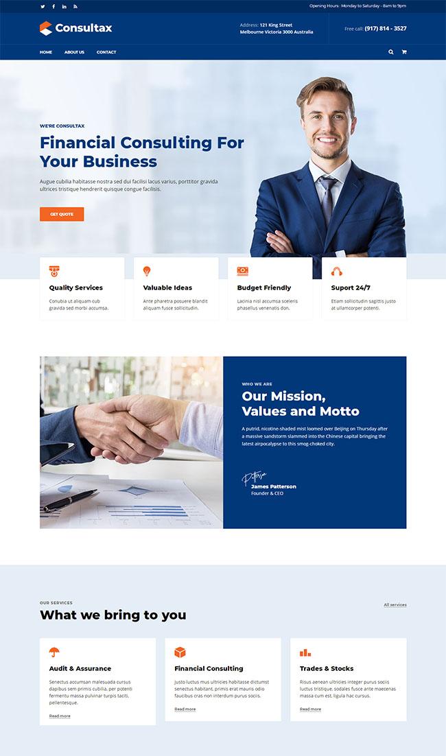 商业财务咨询网站HTML5模板