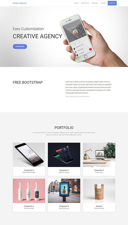创意机构平面设计公司模板