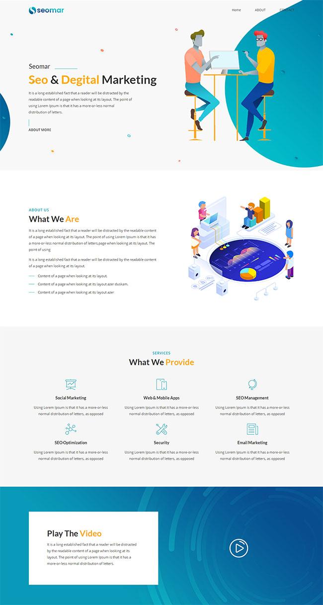 网络推广营销公司网站模板