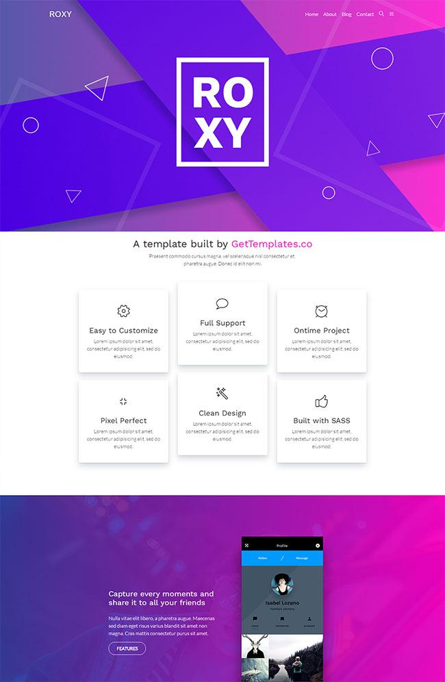 紫色创意设计公司网站模板