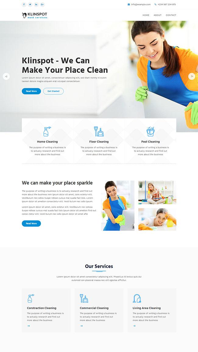 清洁服务公司网站模板