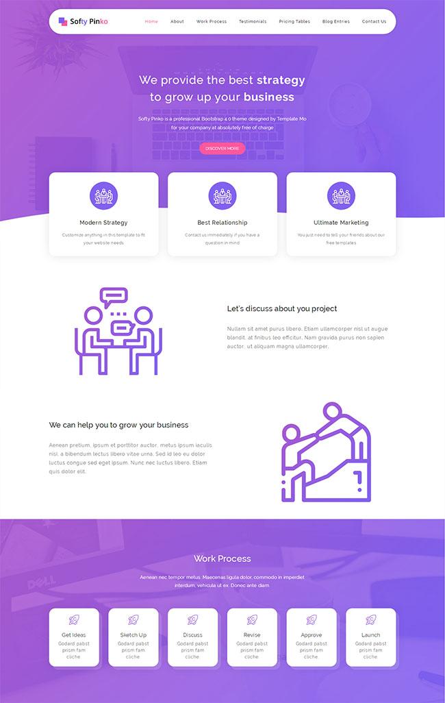 紫色大气Bootstrap网站模板