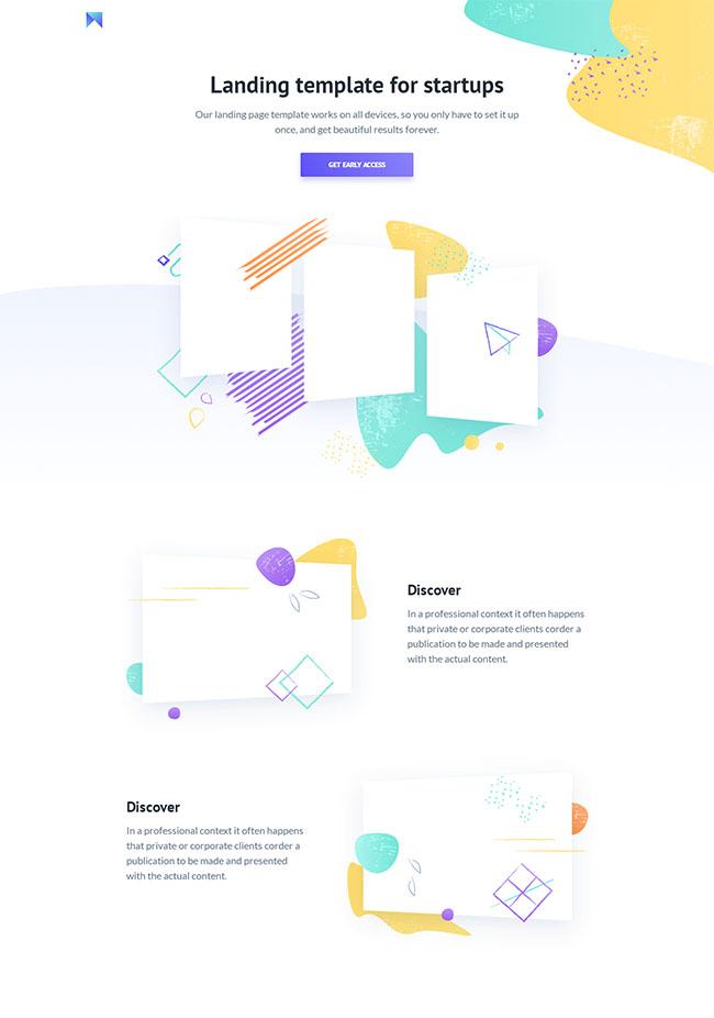 创业公司引导页html5模板