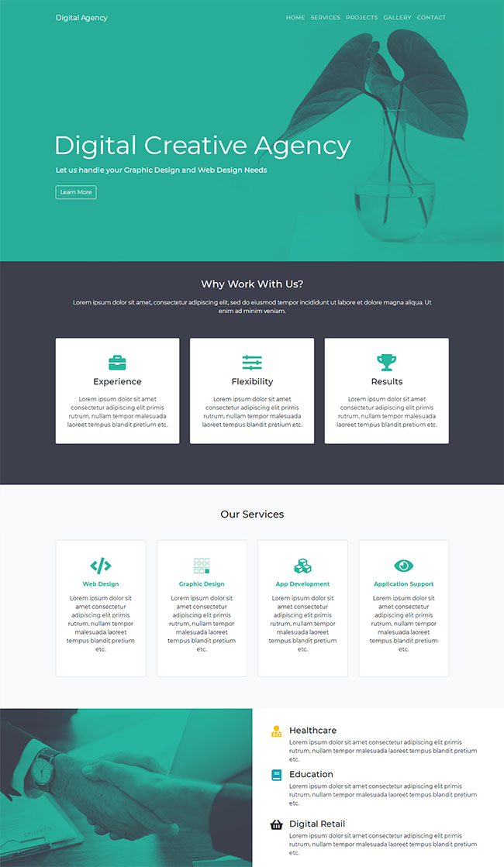 营销代理商设计机构网站模板