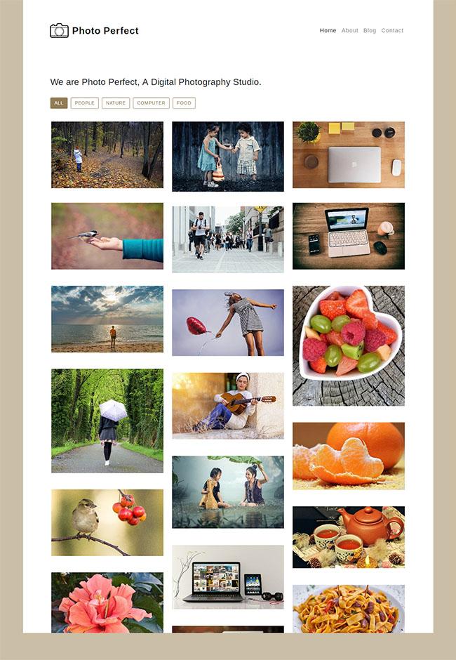 Photo相册图库个人网站模板