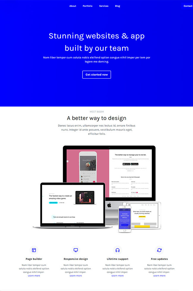蓝色APP开发工具企业网站模板