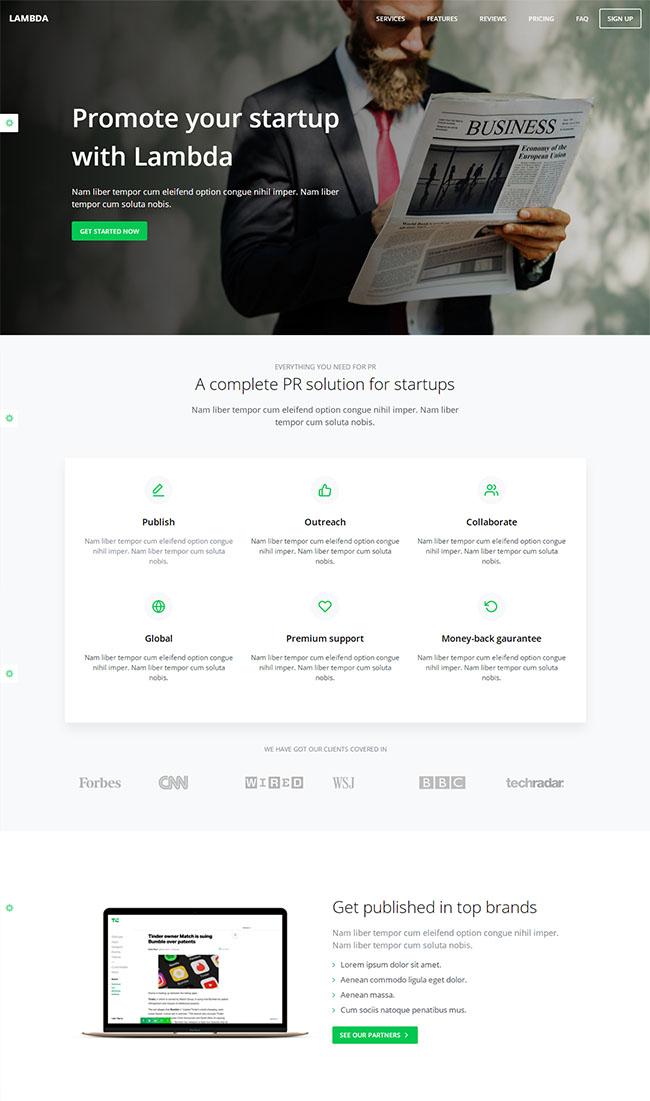 宽屏数字媒体企业网站模板