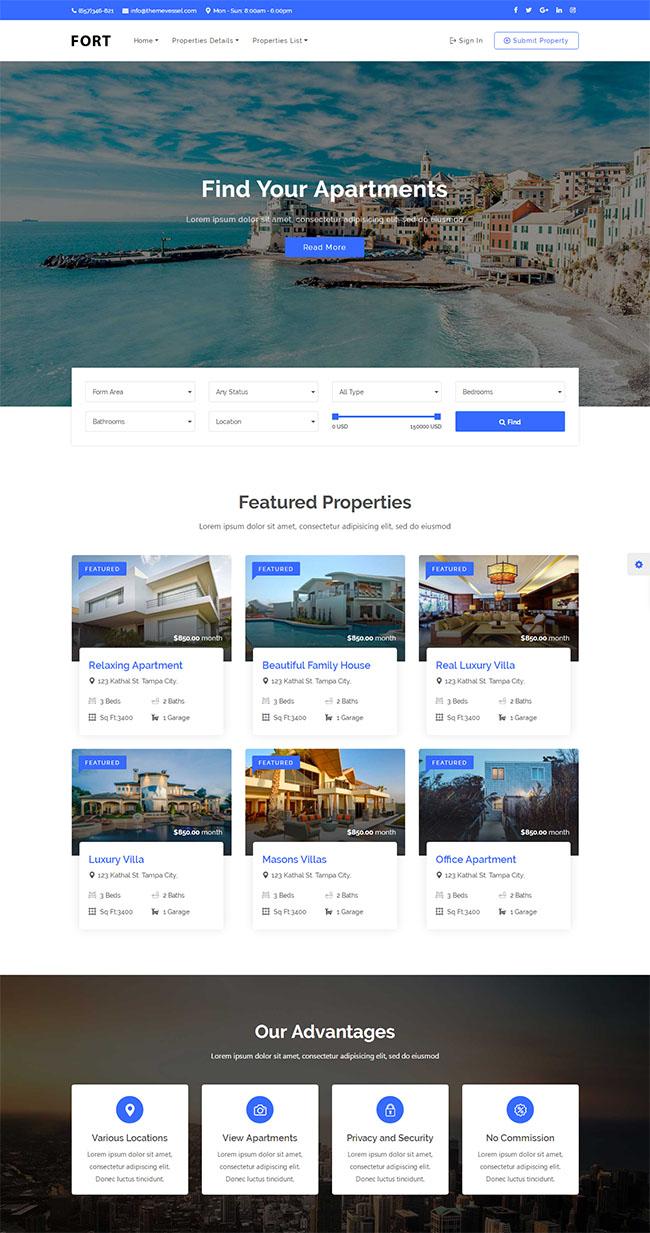 二手房产销售租赁网站模板