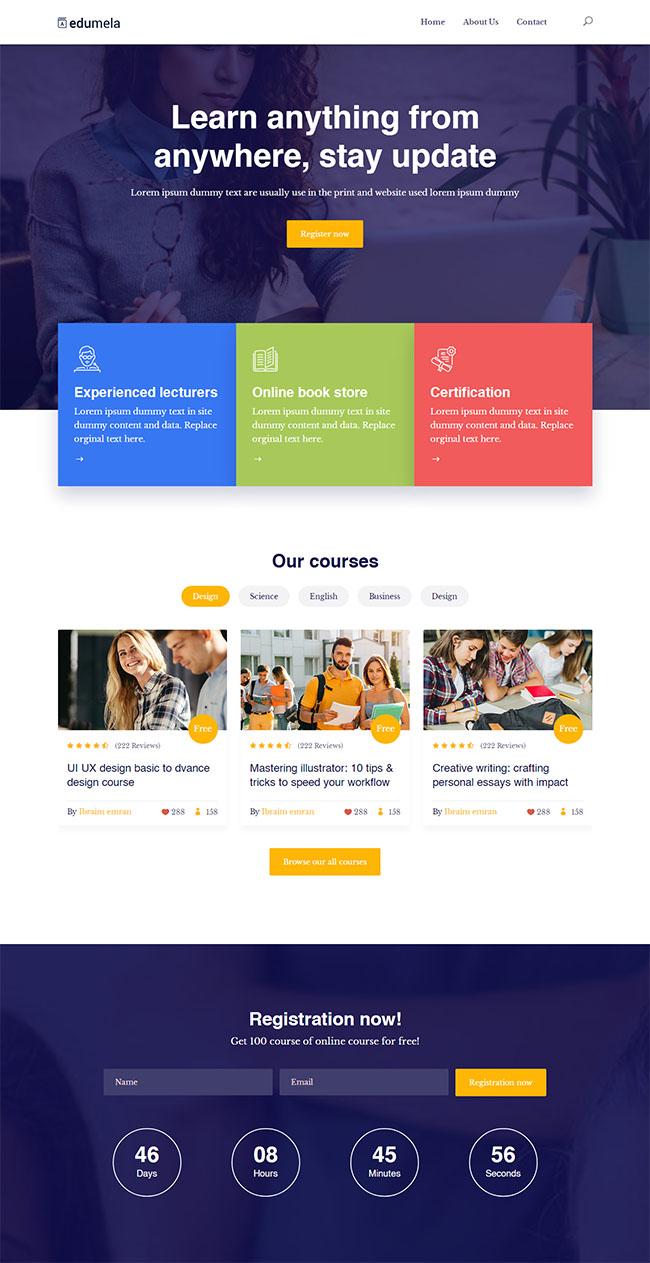 商业教育培训机构网站模板