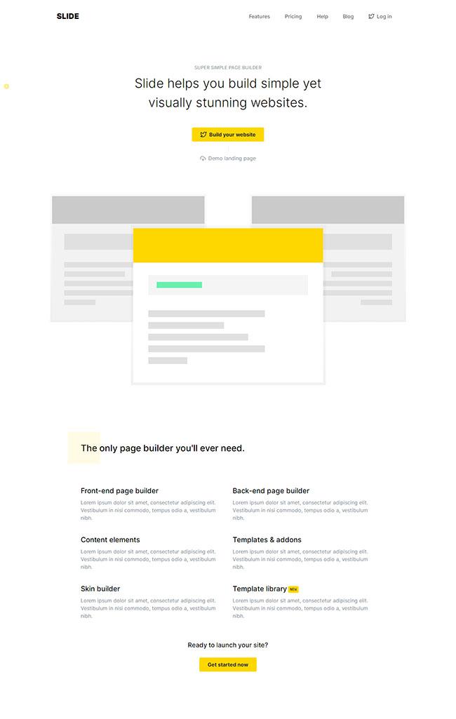 前端页面构建系统网站模板