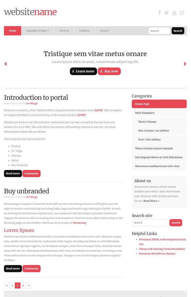 营销推广SEO博客HTML5模板