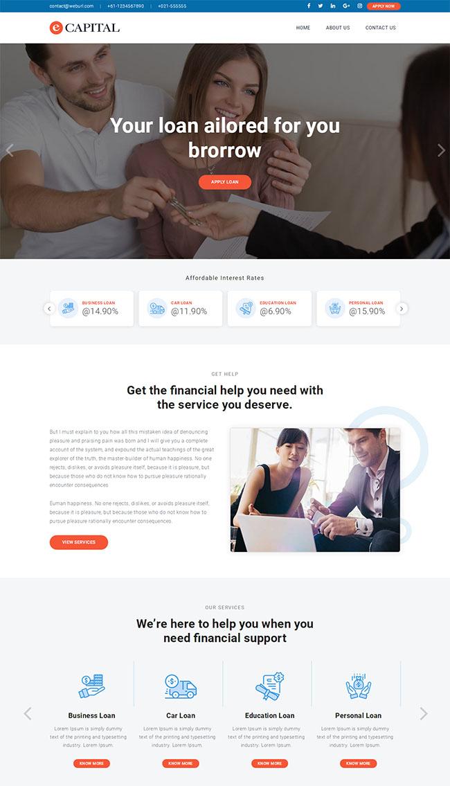 p2p小额贷款公司网站模板