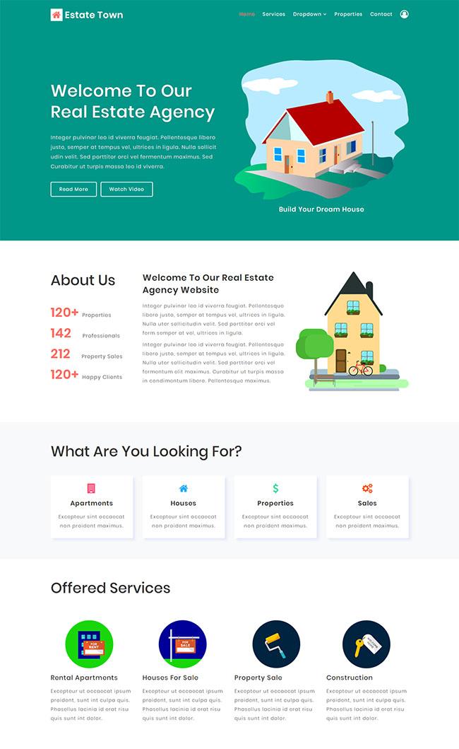 二手房房产中介网站模板