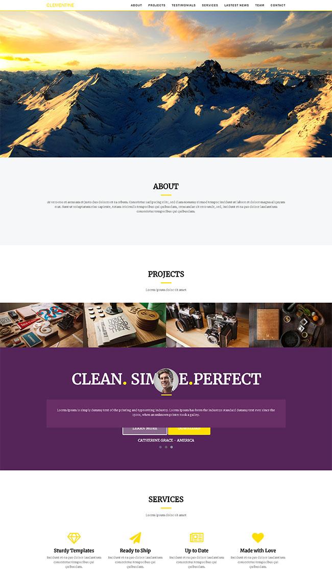 大山户外风景旅游网站模板