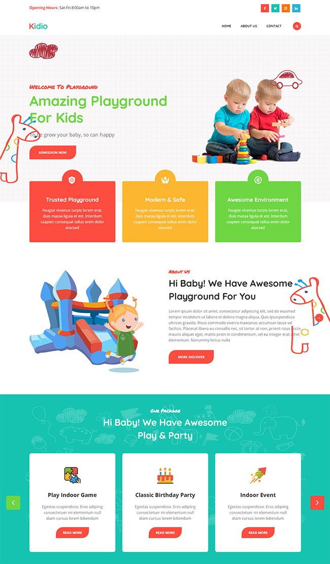 儿童游乐园设施网站模板