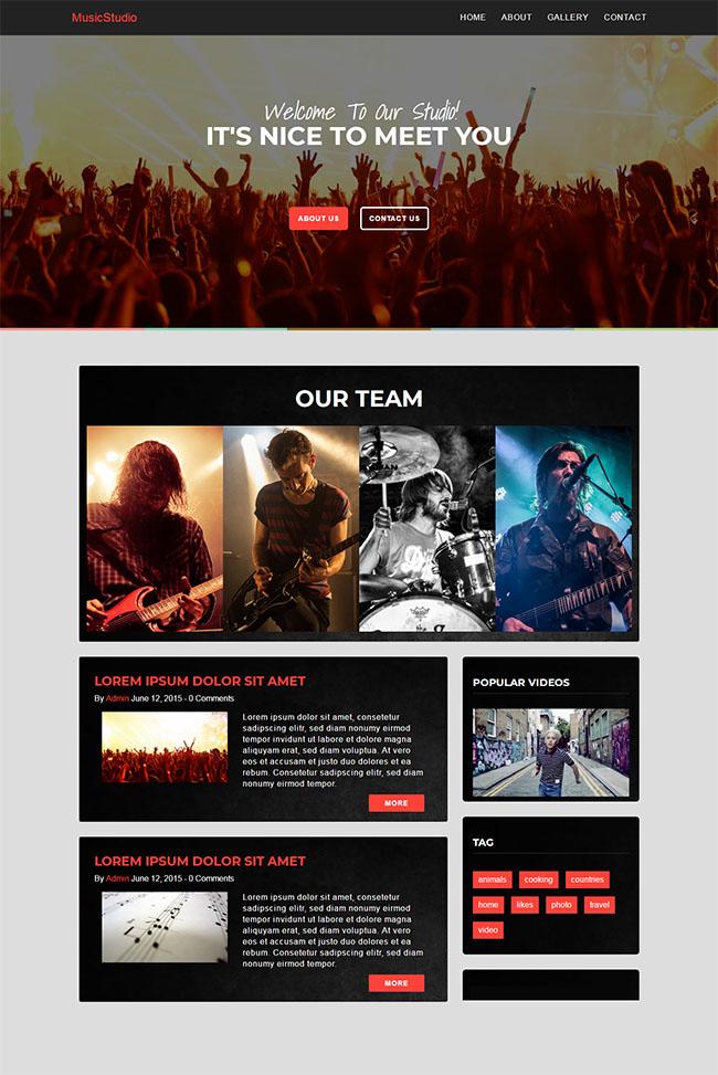 摇滚乐队演唱会专题网站模板