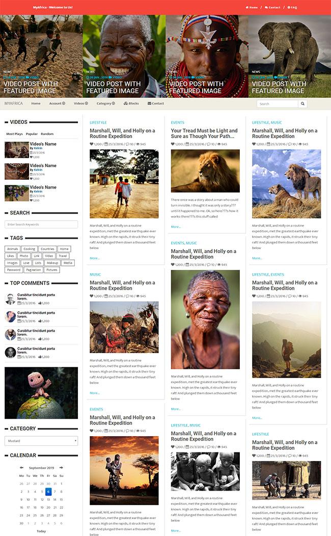 国外新闻媒体门户网站模板