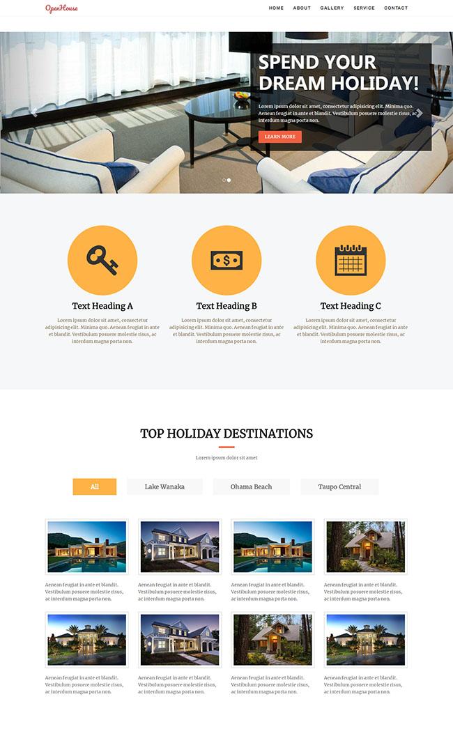 沙发外贸公司企业网站模板