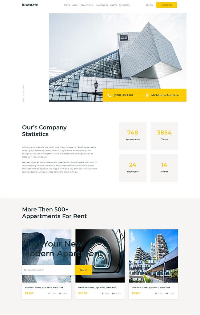 建筑设计集团单页模板