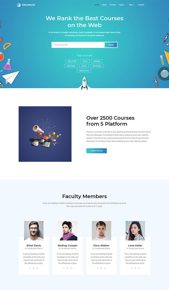 天文学研究机构网站模板