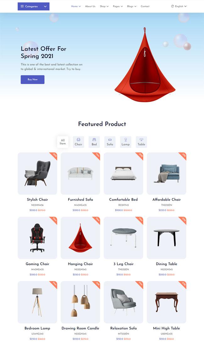 欧式家具电子商务网站模板