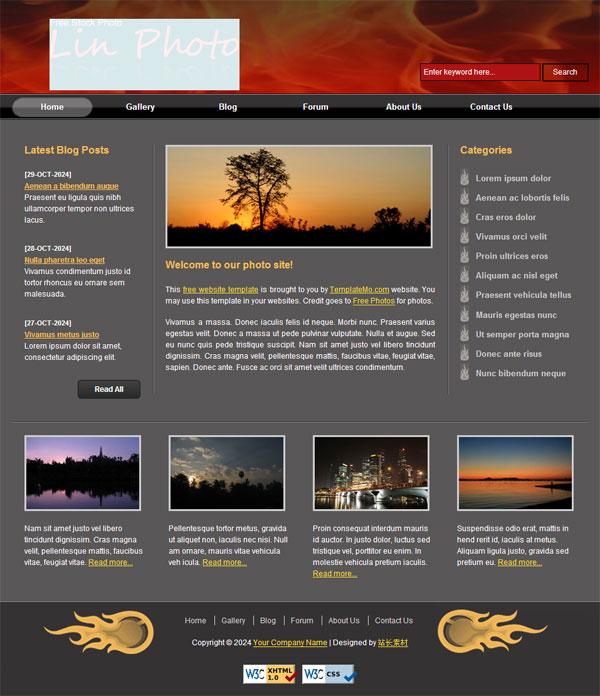 个人艺术照片欣赏_照片素材CSS网页模板_站长素材
