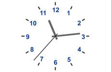 非常簡潔的指針時鐘動畫